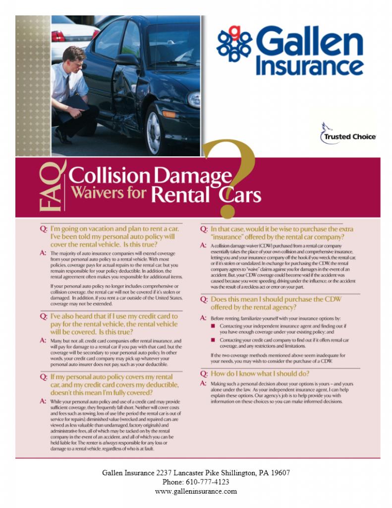 faq collision damage waivers for rental cars. Black Bedroom Furniture Sets. Home Design Ideas