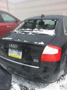 hail damage on Audi in Wyomissing