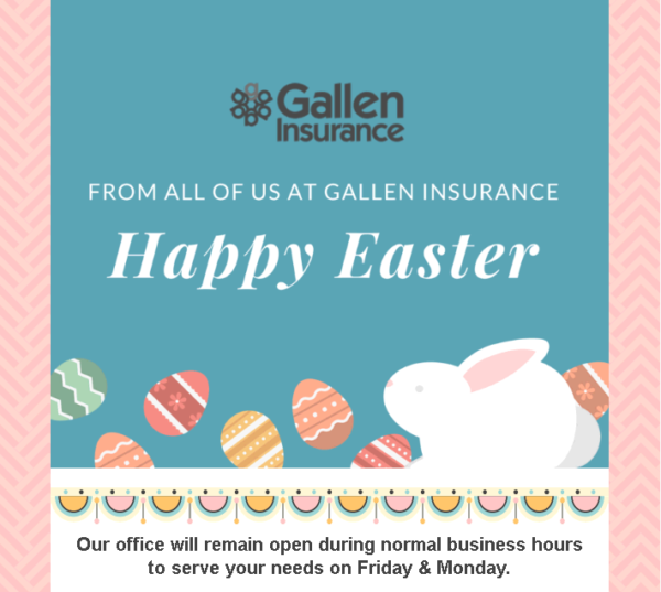 Happy Easter! We're Open Friday And Monday!